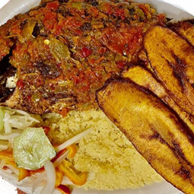 Attieke and Fried Fish