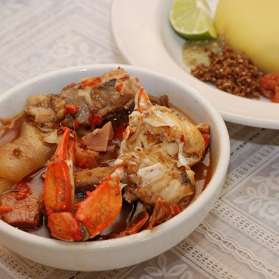 Pepper Soup with Crab (Sea Foods)