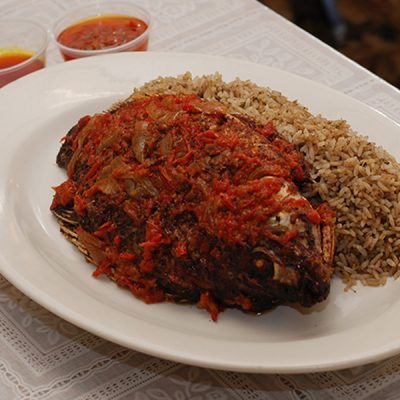 Liberian Dry Rice & Fried Fish