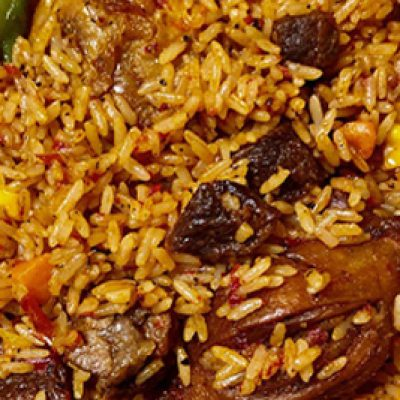 Milah's Jollof Rice with Chicken or Beef