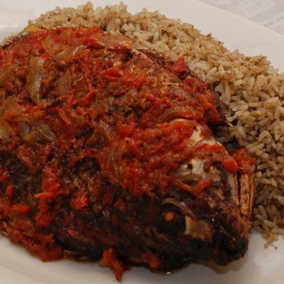 Corn Beef Dry Rice with Fried Fish