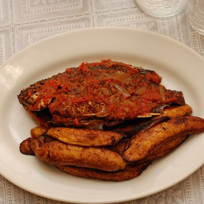 Fried Plantain and Fish