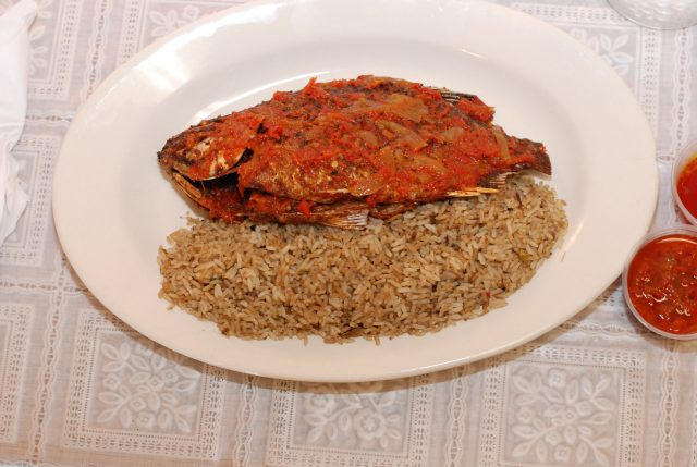 Corn Beef Dry Rice and Fish